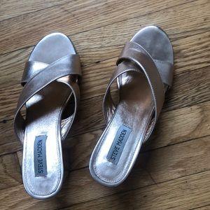 ROSE GOLD | chunky heels ✨